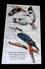Australian Tea Towel Kookaburra Laughing Jackals Brown Kingfisher Bushmans Clock