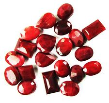 200 Ct/20 Pcs Natural Awesome Pigeon Blood Red Mix Shape Ruby Gemstone Lot
