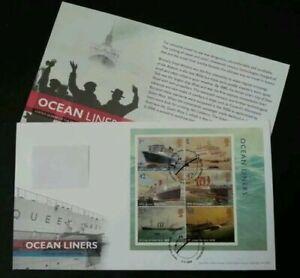 [SJ] Britain Ocean Liners 2004 Ship Vehicle Transport Transportation (FDC)