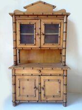 Antique Miniature Faux Bamboo Hutch
