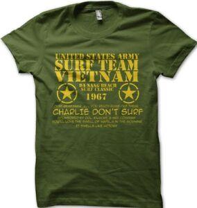 Charlie Dont Surf Apocalypse Now VIETNAM printed t-shirt 9140