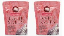 2 x Elysium Spa Pink Himalayan Bath Salt Help To Relax & Destress The Body 450g