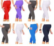 Womens 3//4 Length Cropped Leggings Plus Size 6 8 10 12 14 16 18 20 22 24 ^3//4CTn