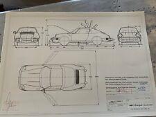 Neues AngebotPorsche 911 Targa / Cabrio 1983 Konstruktionszeichnung/ Blueprint.