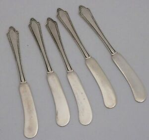 Towle Virginia Carvel Solid Sterling Silver Flat Handle Butter Spreaders