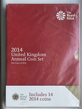 More details for 2014 royal mint annual brilliant uncirculated 14 coin set sealed (cs142)