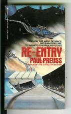 RE-ENTRY by Paul Preuss, rare US Bantam sci-fi pulp vintage pb
