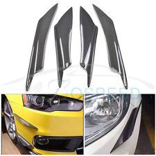 4pcs/set C Style Carbon Fiber Front Bumper Lip Kit for Mitsubishi Lancer EX EVO
