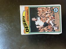 b1t trade card topps 1978 orange back football no 206 steve powell derby