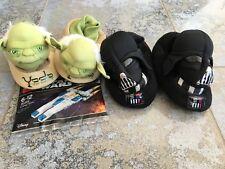 2 x DISNEY STAR WARS Darth Vader Yoda Hausschuhe Pantoffel Lego 30496 Schwarz 30