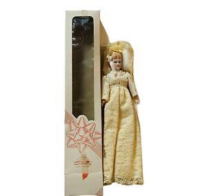 Silvestri Porcelain Doll 1984 Elva Moon NIB box vtg art deco figurine white girl