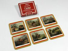 Barware Coasters Hunting Scenes England Set of 6