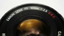 Canon FD 100mm f2.8 SSC lens -- GREAT USER LENS!!! -- TESTED
