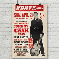 Johnny Cash Concert Poster Canvas Art Print Vintage Rock Country Music