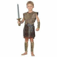 Boys Warrior Roman Greek Soldier Childrens Fancy Dress Costume Medium CC669