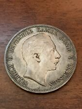 1908 A Prussia German Fund Mark 5 Mark coin KM 523.