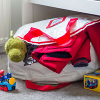 Toy Storage Bag Under Bed Easy To Move Use Tidy Organizer Laundry Towels Clothes