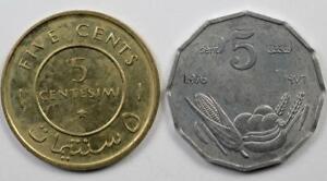SOMALIA - 2 COINS LOT - 1967-1976