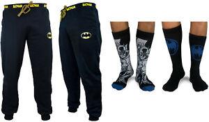Adults Batman Jogpant & 2 pack Socks Gift Set Christmas Bargain Deal Gift