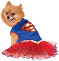 Pet Dog Cat Super Girl Superhero Halloween Fancy Dress Costume Outfit  XS-XL