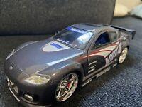 Mazda RX-8 Jada Toys Import Racer 1:24 Silver  Loose  Silver  Volk Racing