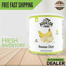 Augason Farms Dried Banana Chips 2 lbs 1 oz No. 10 Can Food Storage, Free Ship