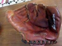 EDDIE MATHEWS 500 HR BRAVES HOF SIGNED AUTO VTG RAWLINGS 3 FINGER GLOVE MITT JSA
