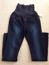 THYME Comfy Navy Blue Maternity Mother Elastic Waist Pants Size S/P NWT