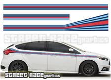 Ford Martini side racing stripes 004 vinyl graphics stickers Focus Fiesta Ka