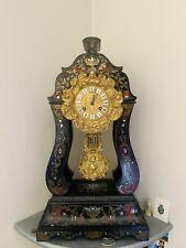 Horloge Pendule Portique à colonnes Charles X Marqueterie Boulle