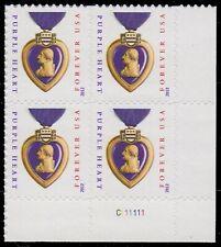 USA Sc. 4704 (45c) Purple Heart 2012 MNH plate block reprint C111111