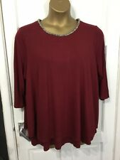 LOVE LABEL Evans Size 20 Stretch Bead Neck Tunic Top