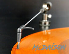 McDAISON - BRACCIO in metallo con SPAZZOLA pulizia vinile LP giradischi piatto