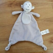 MARKS AND SPENCER M&S BEIGE STRIPE MONKEY COMFORTER SOOTHER PLUSH 01311532
