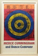 """Jasper Johns (1930) MERCE CUNNINGHAM-original vintage Affiche 1968 """"TARGET"""""""