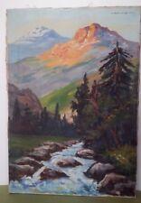 Tableau Huile sur Toile Paysage signé LE FLORENTIN XXème French Painting