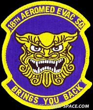 USAF 18th AEROMEDICAL EVACUATION SQUADRON - ORIGINAL AIR FORCE VEL MORALE PATCH