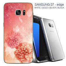 Flores Samsung 7 Borde Piel Posterior-Adhesivos Para Samsung 7/Samsung 7 Edge Edge