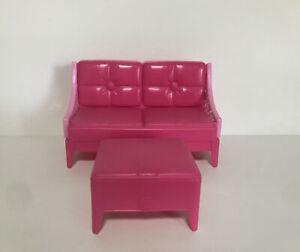 Barbie X7949 2013 Dreamhouse Doll Couch Sofa & Ottoman House Furniture