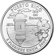 2009 P PUERTO RICO Territorial Quarter BU from original bank bags
