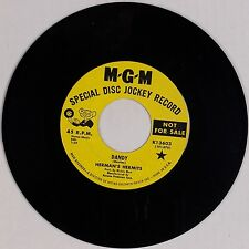 HERMAN'S HERMITS: Dandy / My Reservation KINKS Cover MGM DJ Promo Psych 45 NM