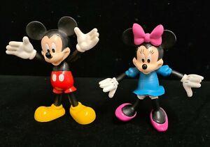 Vintage DISNEY Micky & Minnie Mouse Bendable Vinyl/Plastic. Walt Disney