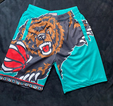 Mitchell & Ness Vancouver Grizzlies Turquoise Big Face Jersey Shorts
