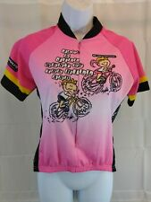 World Jersey Womens Pink Cycling Jersey Medium Jack And Jill Went Up The Hill...