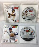Major League MLB Baseball PS3 2K8 & 2K10 PlayStation LOT of 2 COMPLETE TESTED