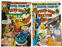 Marvel Team-Up Comic Books #34 Jun 1975 & #39 Oct 1975 Collectible