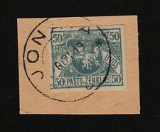 Lithuania, 1919, SC 35, used, imperf, cover cut. b5415
