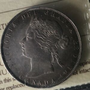 50 cents 1881H Canada ICCS VF-30 Queen Victoria silver coin c ¢ half dollar