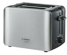 Bosch TAT6A913GB Stainless Steel / Black Compact 2 Slice Toaster