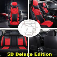 Car Accessories Front&Rear Seat Cover Luxury PU Leather Seat Cushion Protector